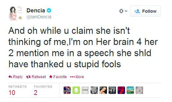 Dencia Responds to Lupita Essence Speech 5 Was Lupita Nyongo Irresponsible for not Omitting Dencia and Whitenicious from her Speech at the Essence Awards?