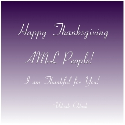 Happy Thanksgiving AML People